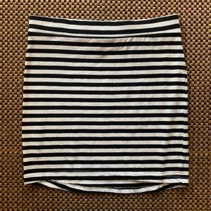 Black & White striped mini skirt